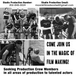 Movie Auditions in Washington DC, Cast and Crew for Paid Film Project