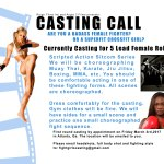 Casting Actresses With Fight / Combat Training for Lead Roles in Sitcom Filming in Atlanta
