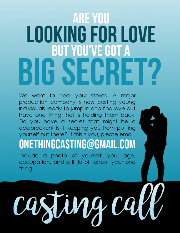 One Thing casting notice