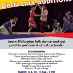 Folk Dance Auditions for Philippine Folk Arts Shows in Los Angeles