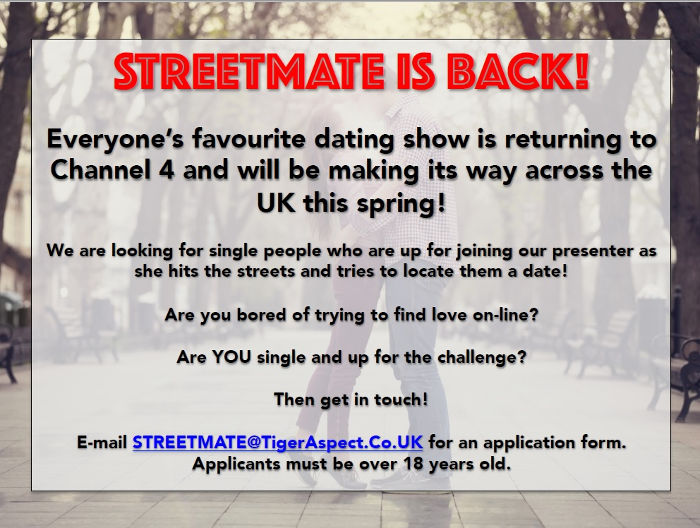 Dating shows Auditions Free - Casting calls
