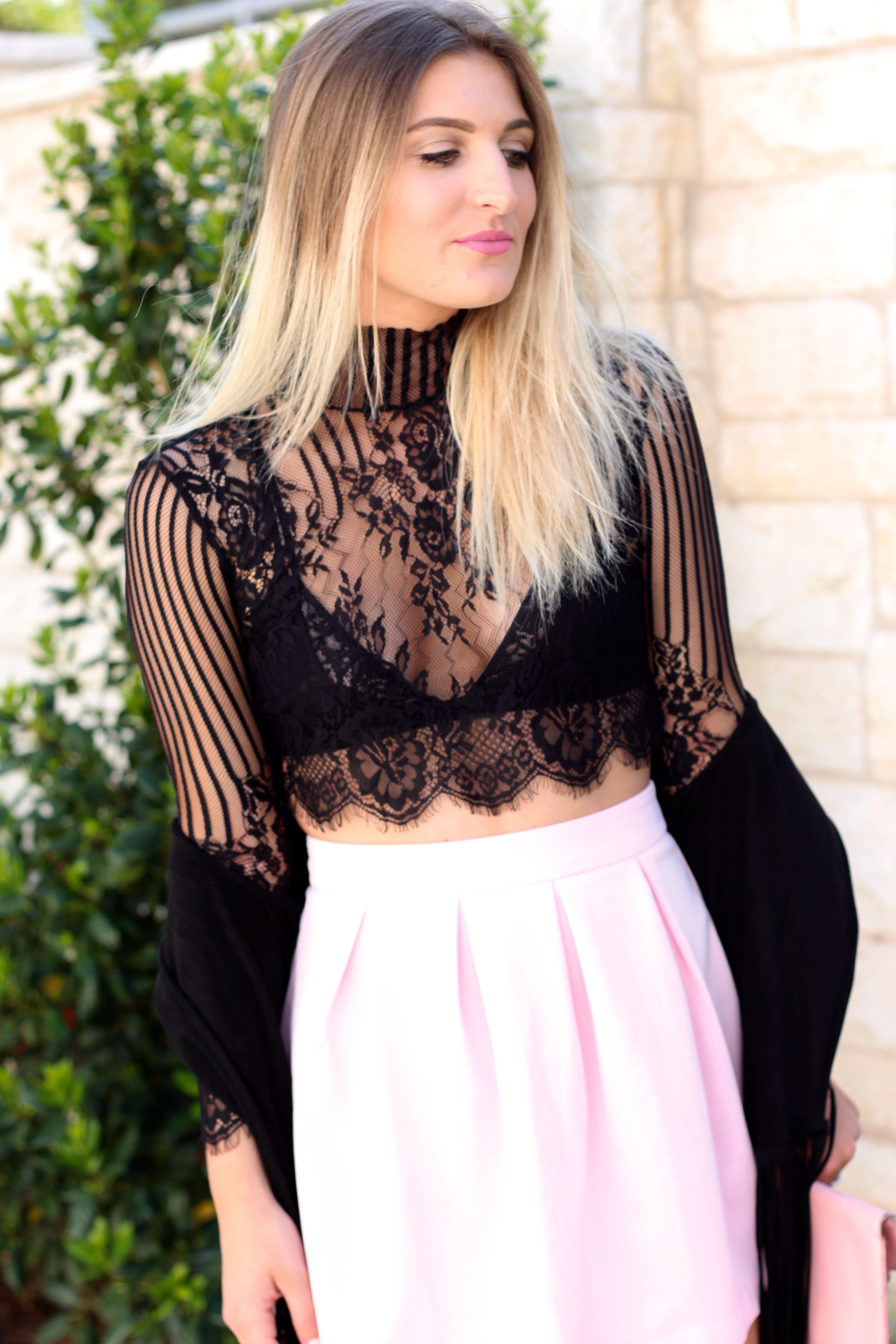 lace crop top from asos