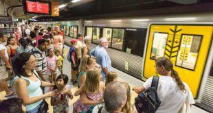 圖:布里斯本的高頻火車(high-frequency train lines),可以有效的連接城市的各個部分。(來源:Domain.com.au,Glenn Hunt 拍攝)