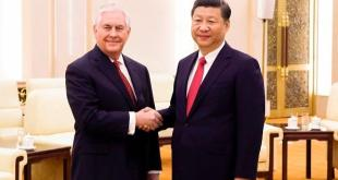 美國國務卿蒂勒森(Rex Tillerson),北京時間3月19日上午11時與中國主席習近平會面。 (THOMAS PETER/AFP/Getty Images)