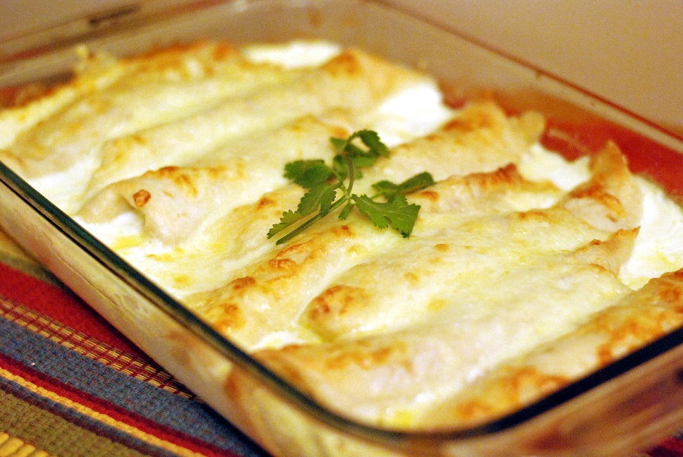Caramelized Onion and Cream Cheese Turkey Enchiladas | Aunt Bee's Recipes