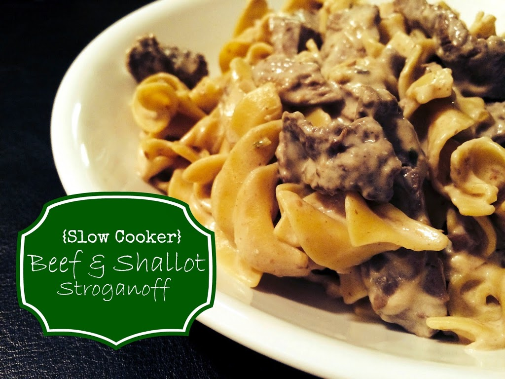 Slow Cooker Beef and Shallot Stroganoff