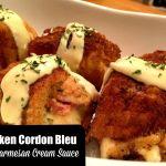 Chicken Cordon Bleu with Parmesan Cream Sauce