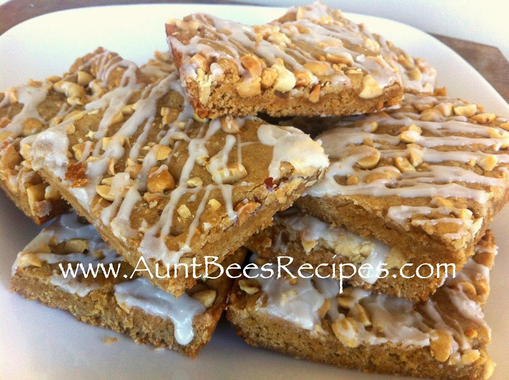 Super Easy Peanut Butter Cookie Bars