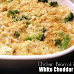 White Cheddar Chicken, Broccoli & Rice Bake