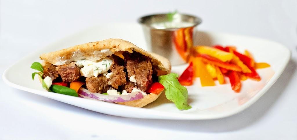 Greek Marinated Steak Gyros with Greek Yogurt Dip