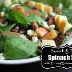 {Sweet & Tangy} Spinach Salad with Creamy Balsamic Vinaigrette