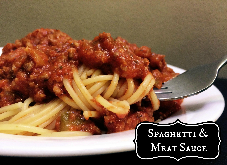 Spaghetti And Meat Sauce Recipe — Dishmaps