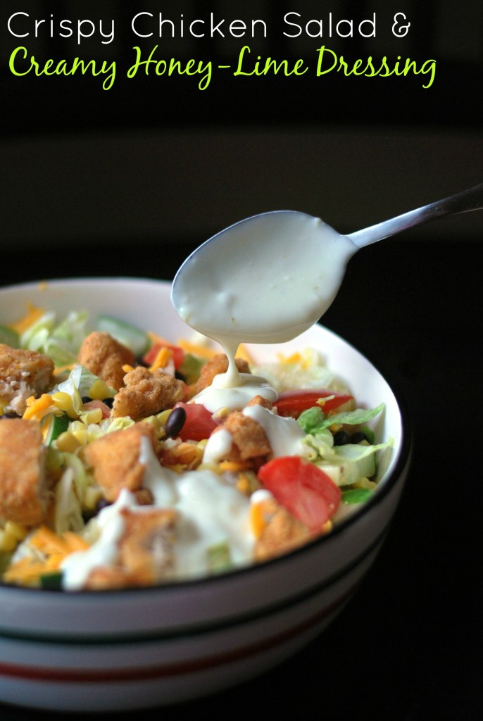 Crispy Chicken Salad with Creamy Honey-Lime Dressing   Aunt Bee's Recipes