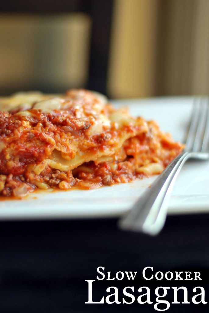 Slow Cooker Lasagna Recipe — Dishmaps