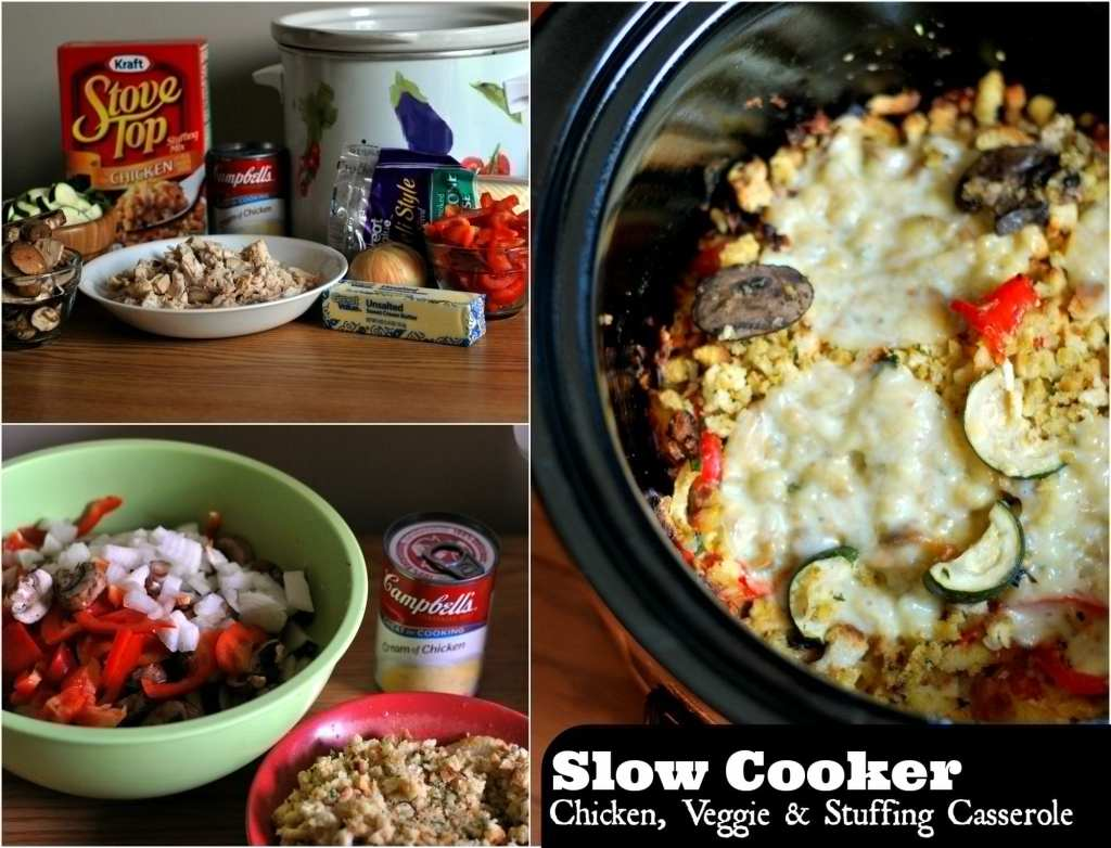 Slow Cooker Chicken, Veggie & Stuffing Casserole | Aunt Bee's Recipes