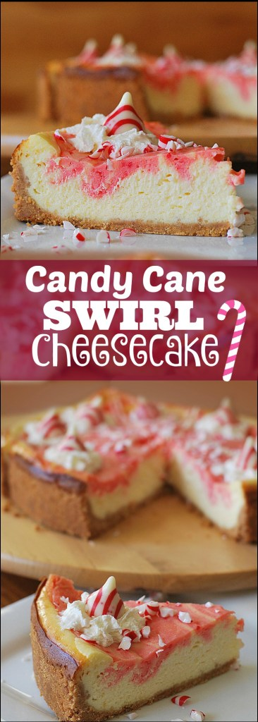Candy Cane Swirl Cheesecake | Aunt Bee's Recipes