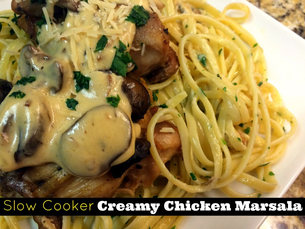 Slow Cooker Creamy Chicken Marsala | Aunt Bee's Recipes