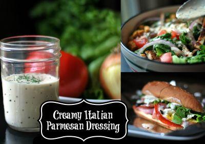 Creamy Italian Parmesan Dressing | Aunt Bee's Recipes