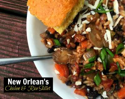 New Orleans Chicken & Rice Skillet Meal | Aunt Bee's Recipes