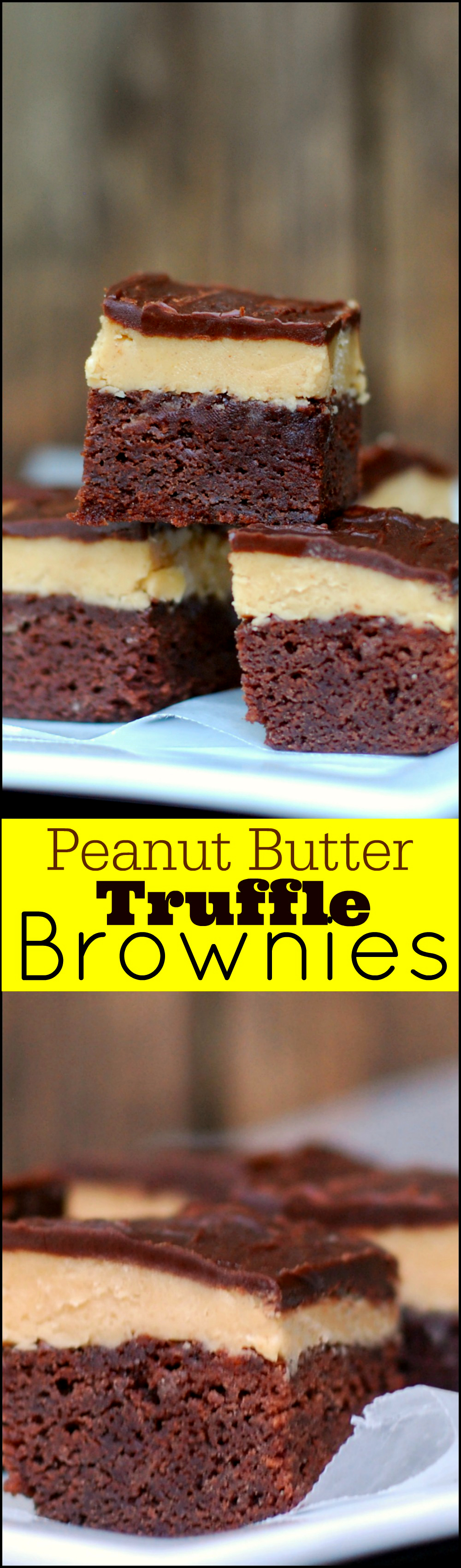 Peanut Butter Truffle Brownies - Aunt Bee's Recipes