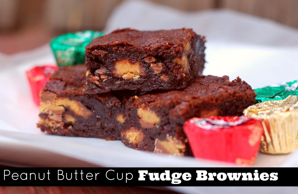 Peanut Butter Cup Fudge Brownies | Aunt Bee's Recipes