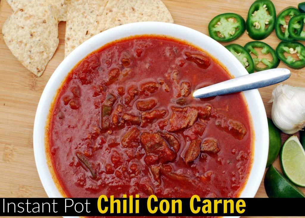 Instant Pot Chili Con Carne   Aunt Bee's Recipes