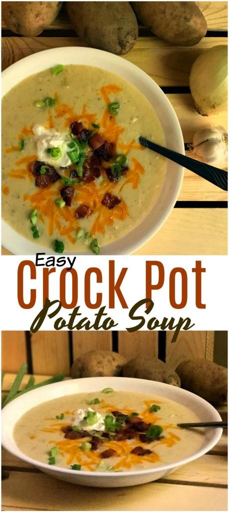 Easy Crock Pot Potato Soup | Aunt Bee's Recipes