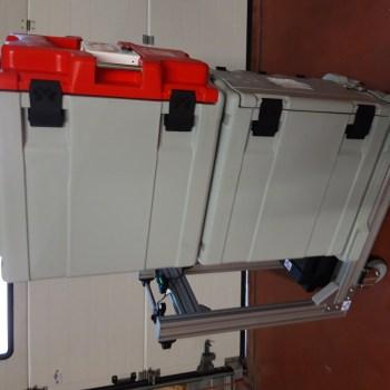 Chariot motorisé pour conteneurs isothermes à gastro