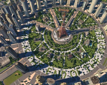 Cities XL New Coast City main circle park