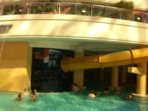 The Golden Nugget water slide