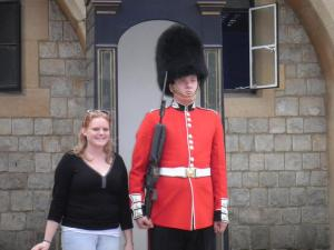 girl with beefeater