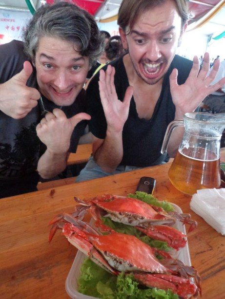 James' reaction to the crab was probably right.. It was foul.