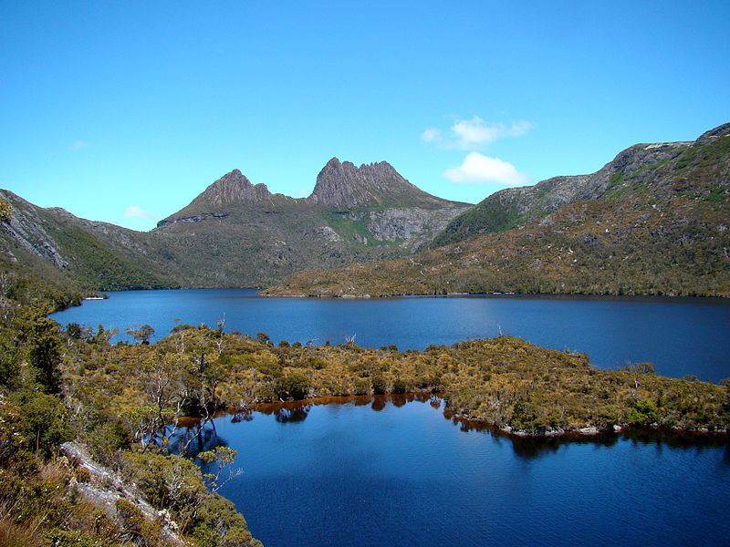 Cradle Mountain is perhaps most famous for Dove Lake, where Ben of Red Rucksack posed in his altogether for the Travel Blogging Calendar.
