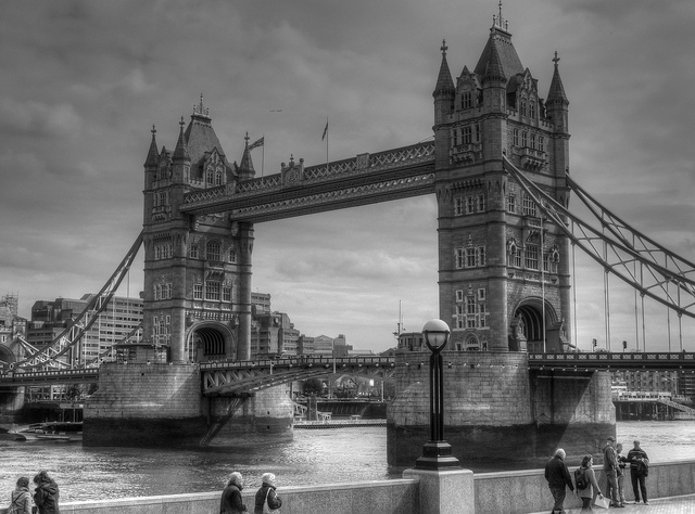 London's iconic Tower Bridge. Can't wait to snap an almost identical photo. Photo by Ian Halsey.