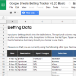 Google Sheets Betting Tracker Released