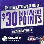 Join CrownBet Rewards and Get $30 in Rewards Points