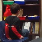 third grader shackled