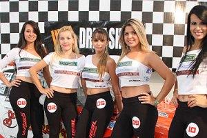 Garotas no evento Garagem X Motor Show. Fotos: Nelsito Nelson FT