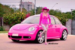New Beetle Rosa com aro 20 da Barbie brasileira