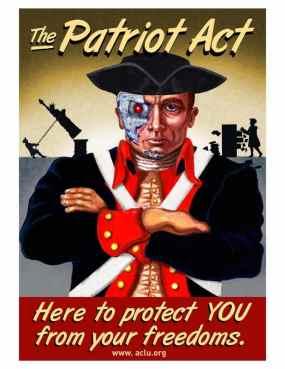 """A """"lei patriótica"""" suspendia muitos direitos civis intocáveis há séculos."""
