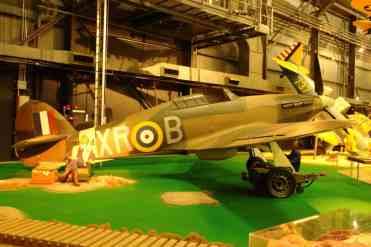 Não poderia deixar de estar no museu um Hawker Hurricane, caça inglês