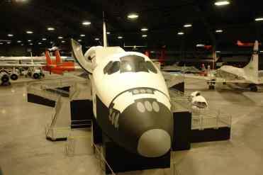 Modelo da fuselagem do Space Shuttle, que poderá ser percorrido pelos vistitantes