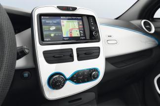 La console centrale de la Renault ZOE en blanc