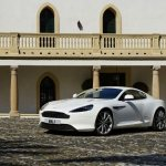 AstonMartinVirageFrontViewWhite2