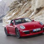 Porsche 911 Targa on road