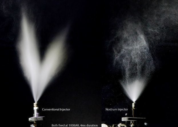 HDEV 5 vs Impingector ambient HS image spray