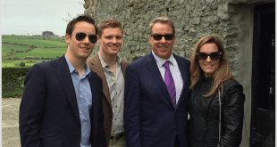 Bill Ford and Family at their homestead in Ireland
