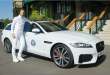 Jaguar Ambasador, Andy Murray, with the new Jaguar XF Sportbrake on tour of schools and tennis clubs to inspire youngsters