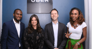 From left: O'Yoma Ukueku; Greenlight Operations Manager, Taryn Morris; Head of Greenlight sub-Saharan Africa, Alon Lits; General Manager sub-Saharan Africa, and Francesca Uriri; Communications Lead, West Africa, all of Uber, at the launch of the new Uber Greenlight Hub in Lagoson Wednesday.