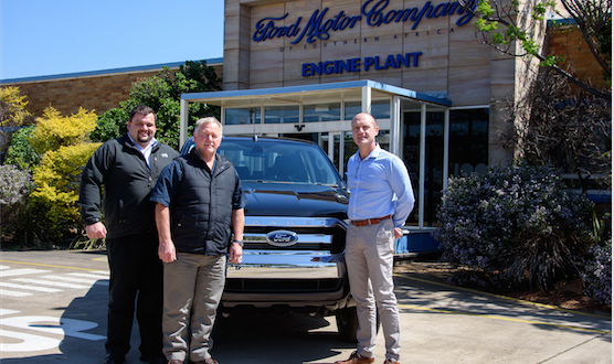 Ford hands over the new Ranger to the Department for Mechanical Engineering at Nelson Mandela University (Photos: QuickPic)